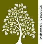 vector oak tree isolated on... | Shutterstock .eps vector #710292631