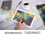 colored applications icons and... | Shutterstock . vector #710293027