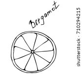 bergamot vector illustration.a... | Shutterstock .eps vector #710294215