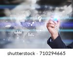 applications icons and graphs...   Shutterstock . vector #710294665