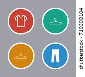 clothes icons set | Shutterstock .eps vector #710300104