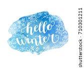 hello winter. vector...   Shutterstock .eps vector #710301211