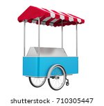 food cart isolated. 3d rendering | Shutterstock . vector #710305447