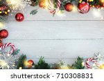 holiday christmas background  | Shutterstock . vector #710308831