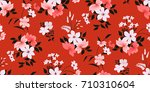 seamless floral pattern in... | Shutterstock .eps vector #710310604