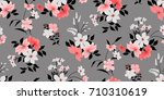 seamless floral pattern in... | Shutterstock .eps vector #710310619