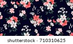 seamless floral pattern in... | Shutterstock .eps vector #710310625