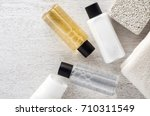 shampoo and shower gel with... | Shutterstock . vector #710311549