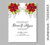 floral wedding invitation... | Shutterstock .eps vector #710314015