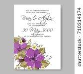 floral wedding invitation... | Shutterstock .eps vector #710314174