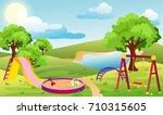vector illustration of kids... | Shutterstock .eps vector #710315605