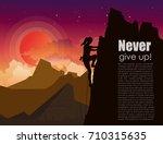 vector illustration of mountain ... | Shutterstock .eps vector #710315635