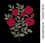 bouquet of red roses.... | Shutterstock .eps vector #710317819