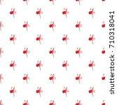 red ball paintball pattern... | Shutterstock . vector #710318041