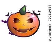 pumpkins for halloween. vector. | Shutterstock .eps vector #710319559
