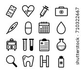 medical icons on white... | Shutterstock .eps vector #710322667