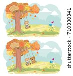 cute teddy bears children... | Shutterstock .eps vector #710330341