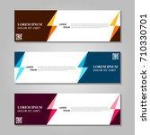 vector abstract design banner... | Shutterstock .eps vector #710330701