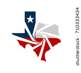 volunteers helping texas vector ... | Shutterstock .eps vector #710333434