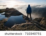 near preikestolen  pulpit rock  ... | Shutterstock . vector #710340751