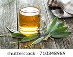 Sage Tea And Sage Leaves....