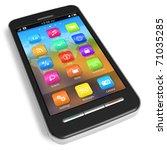 touchscreen smartphone | Shutterstock . vector #71035285