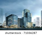 buildings made in 3d | Shutterstock . vector #71036287