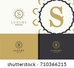 luxury letter s monogram vector ... | Shutterstock .eps vector #710366215