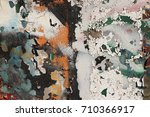 old weathered graffiti wall.... | Shutterstock . vector #710366917