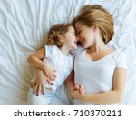 happy family mother and child... | Shutterstock . vector #710370211