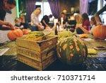 master class halloween... | Shutterstock . vector #710371714
