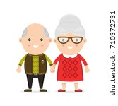 old man and woman  grandmother... | Shutterstock . vector #710372731