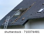 roofing  installation or repair ... | Shutterstock . vector #710376481