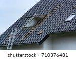 roofing  installation or repair ...   Shutterstock . vector #710376481