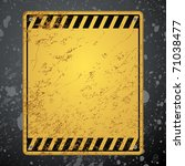 textured old striped warning... | Shutterstock .eps vector #71038477