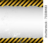 warning themed torn wallpaper | Shutterstock .eps vector #71038483