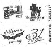 Set Of Halloween Vintage Badges....