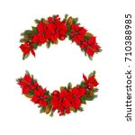 christmas decoration. frame of... | Shutterstock . vector #710388985