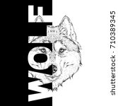hand draw wolf portrait. it may ...   Shutterstock .eps vector #710389345