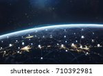 data exchange and global... | Shutterstock . vector #710392981