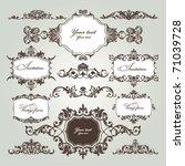 vector set of floral elements | Shutterstock .eps vector #71039728