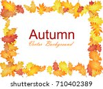 frame of oak leaf abstract... | Shutterstock .eps vector #710402389