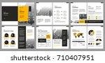 design annual report vector... | Shutterstock .eps vector #710407951