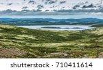 beautiful landscape in the... | Shutterstock . vector #710411614