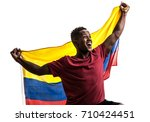 colombian fan   sport player... | Shutterstock . vector #710424451