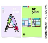 vector covers design set with... | Shutterstock .eps vector #710429491