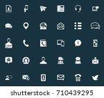 vector illustration set of... | Shutterstock .eps vector #710439295