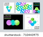 geometric trendy illustration... | Shutterstock .eps vector #710443975