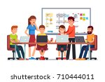 start up business team working... | Shutterstock .eps vector #710444011