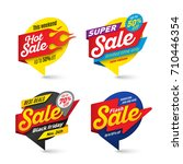 sale banners template  hot ... | Shutterstock .eps vector #710446354